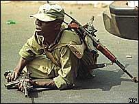 Nigerian soldier in Sierra Leone, 1999