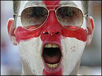 England fan in Lisbon