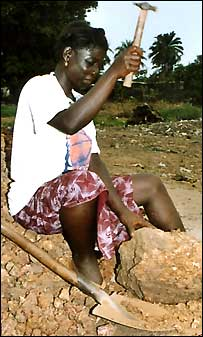 Fatmata Kargbo, who suffers from fistula