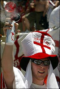 England fan in Coimbra