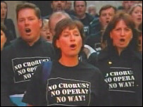 Scottish Opera chorus members