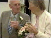 Dennis and Eileen Howell on their wedding day in 2004