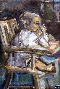 Painting entitled Paul Cezanne's Son in a High Chair