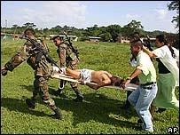 Heridos de la masacren Santander