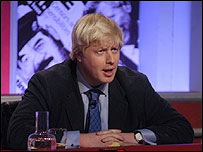 Boris Johnson plays host on Have I Got News For You