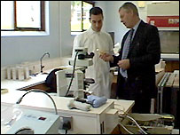 Giuseppe Aprea and Michael Mullan at Loughry Agricultural College