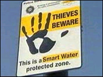 A Smart Water warning sign