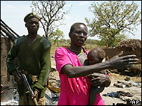 A Ugandan woman at the scene of an LRA massacre