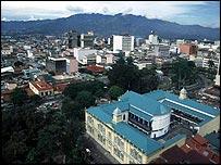 Costa Rica skyline