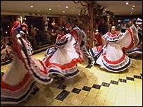Traditional Costa Rican dancers