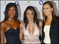 Kelli Young, Michelle Heaton and Jessica Taylor from Liberty X
