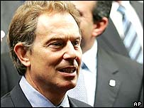 Tony Blair at the summit