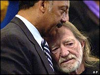 Rev Jesse Jackson and Willie Nelson
