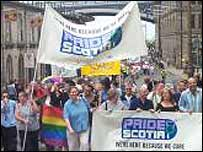 Gay pride march