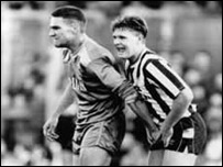 Vinnie Jones y Paul Gascoigne.