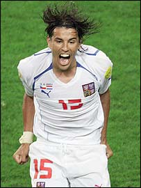 Milan Baros grabbed the Czechs' equaliser