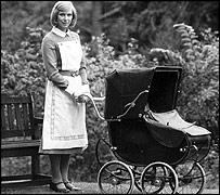 Nanny with pram