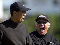 Tiger Woods and Butch Harmon