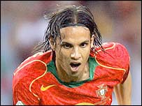 Portugal's match winner Nuno Gomes