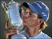 Goosen's second US Open title matches his compatriot Ernie Els