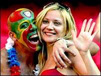 Portugal fans celebrate in Lisbon