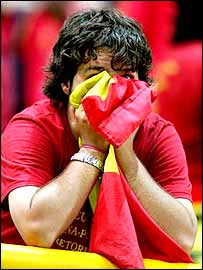 Spain fans were distraught after their team's display