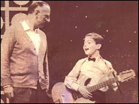 Brian Johnston and Earl in 1959 on All Your Own