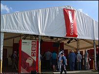 The tour tent