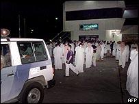 Riyadh residents gather near scene of killing