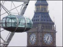 Big Ben and Millennium Wheel, PA