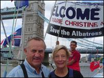 John Ridgway, su esposa Marie Christine. Foto: Diana Zileri, BBC