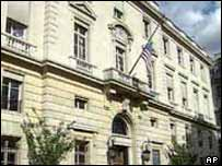 The US embassy in Paris