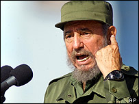 Fidel Castro at Monday's rally