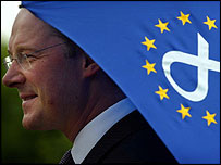 John Swinney under European umbrella