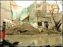 Destroyed building in Baghdad