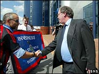 Partick chairman Tom Hughes at Hampden