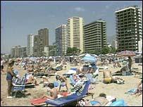Image of sunbathers