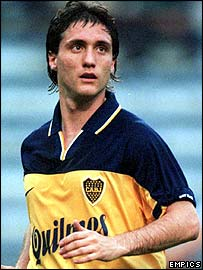 Boca Juniors striker Guillermo Barros Schelotto