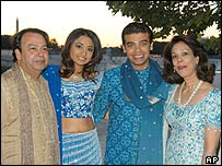 Vanisha and Amit with his parents