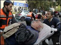 Aftermath of Palestinian suicide bomb blast in Jerusalem