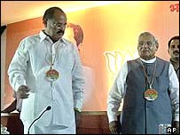 Venkaiah Naidu (left) and Atal Behari Vajpayee