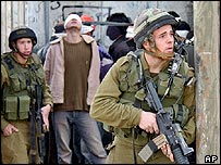 Israeli soldiers patrolling the West Bank