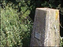 Trig pillar at highest point in Lincolnshire