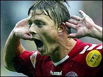 Denmark striker Jon Dahl Tomasson