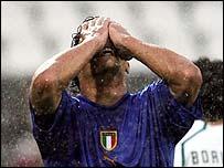 Italy striker Bernardo Corradi