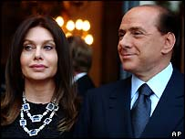 Silvio Berlusconi and his wife Veronica Lario
