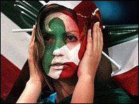 Italian fans suffered as their side slid out
