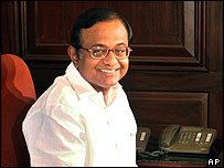 India's finance minister, Palaniappan Chidambaram
