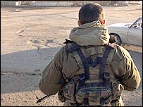 Russian soldier in Grozny