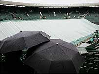 Wimbledon looks set for a third day of rain
